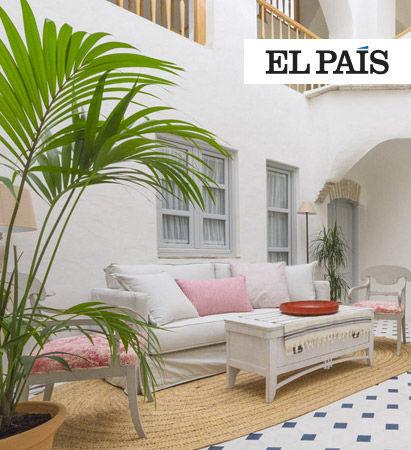 Casa Shelly hostal en Vejer de la frontera en la portada de El Pais. Hostal Costa de la luz