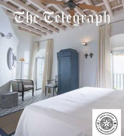 Casa Shelly hostal en Vejer de la frontera en la portada de The Telegraph. Hostal Costa de la luz