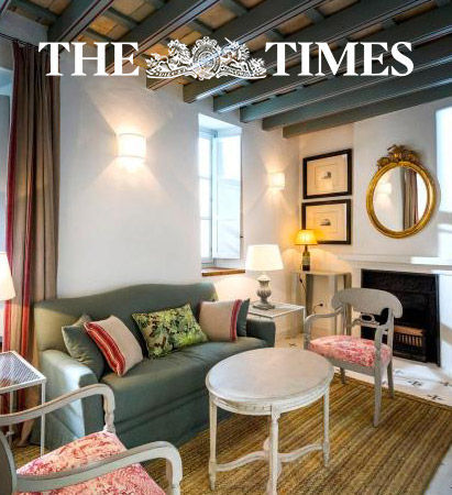 Casa Shelly hostal en Vejer de la frontera en la portada de The Times. Hostal Costa de la luz